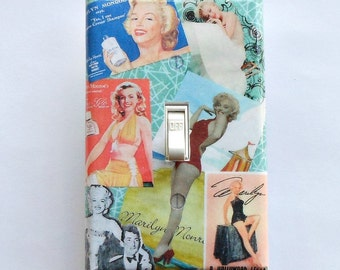 Group of Marilyn switchplates w/ MATCHING SCREWS Marilyn Monroe switchplate Marilyn collector movie star Marilyn Monroe stickers Marilyn art