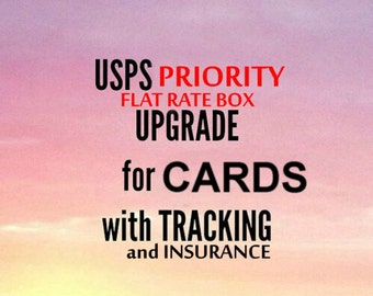Shipping upgrade for CARDS to USPS Priority Mail faster service 3 days - Includes Tracking and Insurance