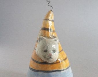 Kitty Sculpture, small ceramic sculpture, cat sculpture