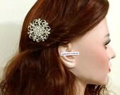 Bridal Hair Comb, Crystal Wedding Hair Comb, Flower Hair Comb, Bridal Hair Jewelry, Rhinestone Bridal Headpiece, Bridesmaid Hair Comb, LUX