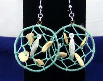 Native American Dream Catcher Dangle Pierced  Earrings