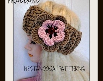 Headband CROCHET PATTERN, Headband Ear Warmer, Crochet Earwarmer Pattern, Boho Headband  headwrap, Chunky style, #1117