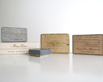 Antique Collection Pharmacy Apothecary Ephemera Medicine Containers Vintage Pharmacy Memorabilia