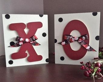 "8"" Valentine XO blocks"