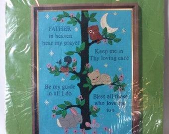 Crewel Picture Kit Child's Prayer