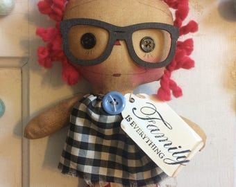 Family tiny Raggedy Ann - Raggedy Annie - raggedy Ann doll - ragdoll - Family gifts - mother's Day gifts -