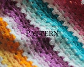 Granny Stripe Baby Blanket, Ombre Easy Beginner baby afghan crochet pattern