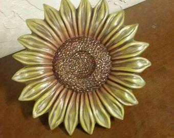 Hand Painted Ceramic Sunflower Decoration