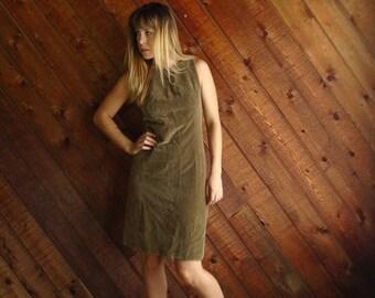 extra 30% off sale . . . Golden Apple Vintage 60s Sleeveless Velvet Mini Shift Dress - SMALL 2 4