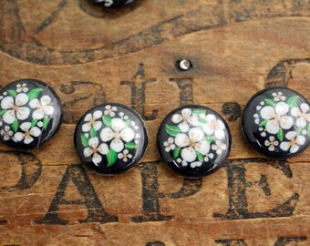 Japanese Acrylic Cabochon 13mm Floral Cabochon (6)  J140