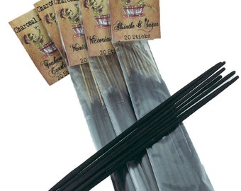 Teakwood and Cardamom Charcoal Incense 20 Sticks