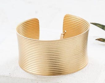 Paradise Thick Bracelet, Statement Cuff Bracelet