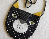 Black Kitty tote