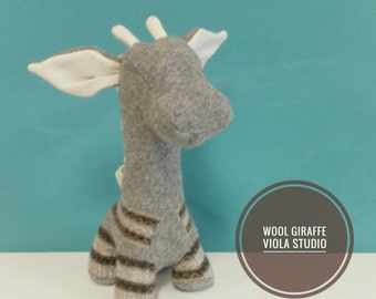 Giraffe, Handmade, Stuffed Animal, Toy, Children, Nursery, Plush