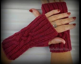 Celtic Cable Fingerless Gloves Pattern - Knitting - Pattern 50520316