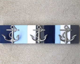 beach towel rack anchor nautical decor outdoor shower pool mancave boat cabin lake coastal cottage decor coat rack pool BeachHouseDreamsHome