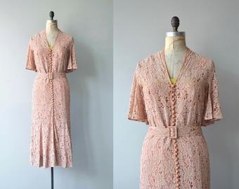 Aphrodisia lace dress | vintage 1930s dress | long lace 30s dress