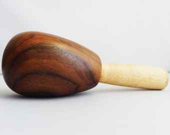Gorgeous Hand Turned East Indian Rosewood Maple Wood Darning Egg for Socks and Handknits Signed by Artisan Jim Hokett