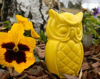 Vintage Styled Ceramic Owl   glazed pottery  - barn owl - same design on both sides