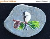 On sale Cute Vintage Bird Brooch, Stone (T2)
