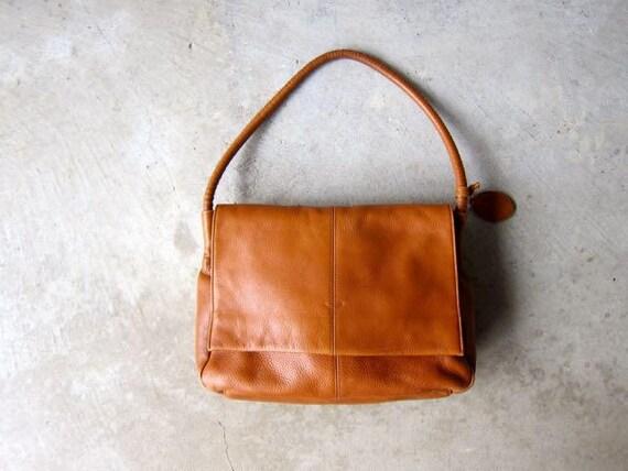 Vintage Brown Leather Bag Supple Leather Shoulder Bag Tote Boho Purse Satchel Bag Hobo Bag 90s Vintage Caramel Brown Slouchy Purse DES