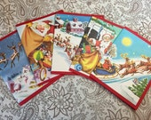 RESERVED FOR SHELIAH - Santa Toy shop cards, set of 6