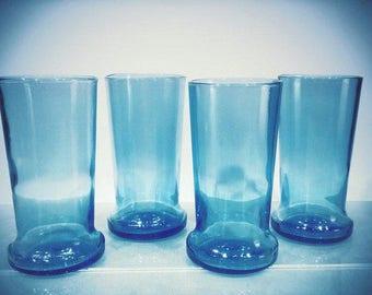 YAVA Glass - Upcycled Blue Bottle Glasses (Set of 4)