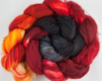 Campfire - Superwash Merino Wool Roving 4oz