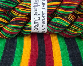Rasta - Hand-dyed Self-striping sock yarn