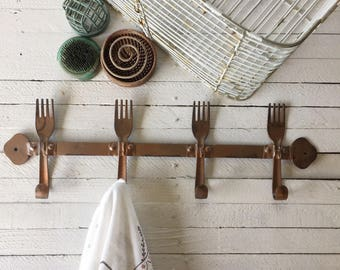 Kitchen Decor, Wall Hook, Metal Kitchen Decor, Retro Kitchen, Creamy White Decor, Metal Wall Decor