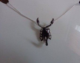 REAL Miniature Scorpion Necklace With a .925 Sterling Silver Snake Chain