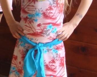 Girls size 6 Hula modest swimsuit/ custom / ready to ship