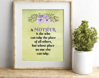 Mother's day printable mom printable Mother's day gift mother quote gift for mom gift for her grandmother gift mother art print