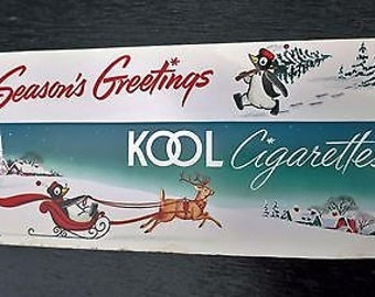 Kool Cigarette Carton Sleeve SEASON'S GREETINGS Unused 1940s-50s
