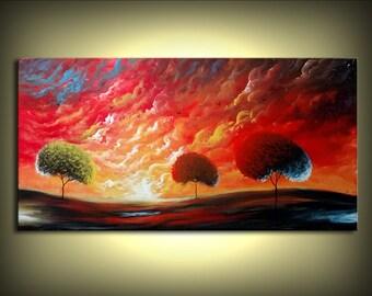 wall art acrylic painting Surreal painting Mattsart