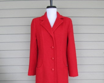 Harold Grant Long Red Mohair Coat