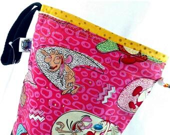 Medium Project Bag Knitting Crochet Drawstring -  Ren & Stimpy