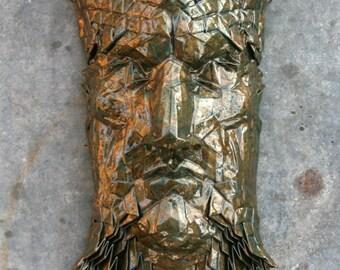 Sargon - enamel glazed origami mask