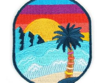 Sunset Beach Iron On Patch