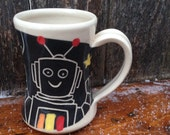 Robot Mug / kids mug / mug for children / small mug