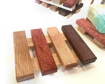 54 soap dishes - made of a variety of reclaimd wood - 2.18 each