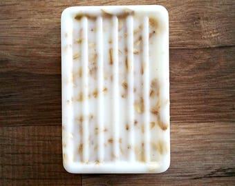 BLACK AMBER and LAVENDER Handmade Soap Goat Milk Big Bar 6.5 oz Free Shipping Scented, Bath, Body, Bar Soap, Goat Milk Soap, Lavender Soap