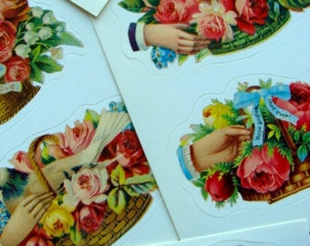 Gorgeous Highly Detailed Victorian Correspondence  Stickers