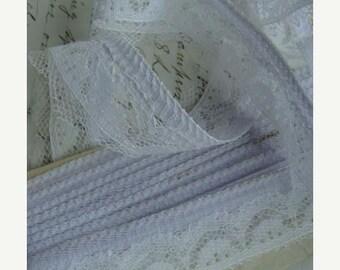 ONSALE Vintage Soft Lavender Shabby Chic Lace Yardage Gorgeous