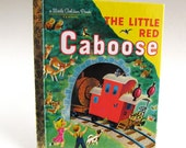 Vintage The Little Red Caboose, Trains, A Little Golden Book, 1981, Picture Book, Bedtime Story,Read Aloud, Storybook, Classic Story,