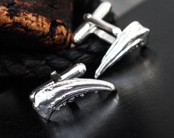 Sterling Silver Cufflinks, Silver Crab Claw Cufflinks, Cancer Zodiac, Recycled Silver Cufflinks, Gift for Him, unisex gift, Elementisle