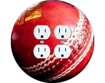 Cricket Ball Double Duplex Outlet Plate Cover