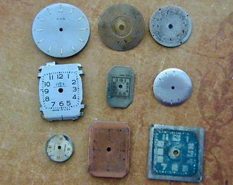 Vintage Antique Watch  Assortment Faces - Steampunk - Scrapbooking B35