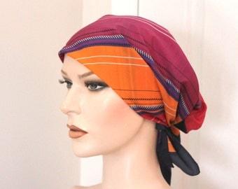 Vintage striped red/orange scarf,striped red/orange scarf,red/orange scarf,striped scarf,striped orange scarf,women,teen,movie props
