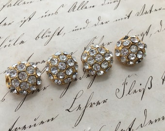 Vintage Rhinestone Buttons, Bling Buttons, Encrusted Rhinestones